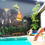 Giant elephant mural
