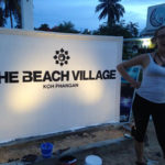 Beach Village sign