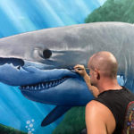 christopher thomas painting shark