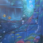 under sea wall mural