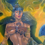 warrior princess mural
