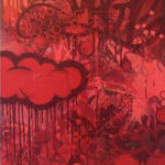red clouds art