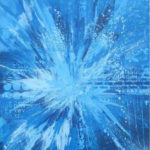 blue splash canvas