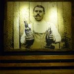 vintage waiter mural