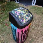 colourful swing bin