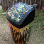 colourful bin