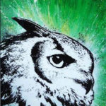 owl canvas art