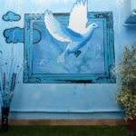 flying dove mural