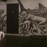 sea creatures mural