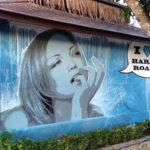 thinking woman mural