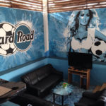 football lady mural