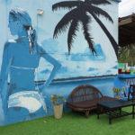 lady beach mural