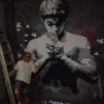 boxing mural artist
