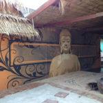 large buddha mural
