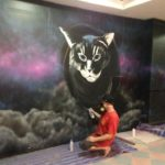 painting cats mural
