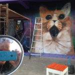 cat space nightclub mural