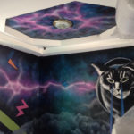nightclub mural cats space interior