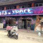 nightclub mural cats space signage