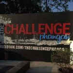 the challenge signage