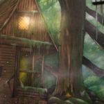 fairy house mural