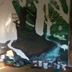 painting woodland mural