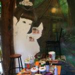 fairy eyes mural