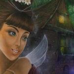 fairy face mural