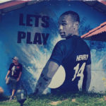 play football mural artist