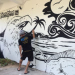 painting goodtime hostel mural