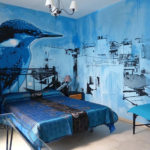 bird mural bedroom