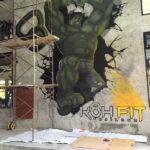 koh fit hulk mural