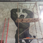 hulk mural painting