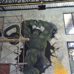 painting hulk mural