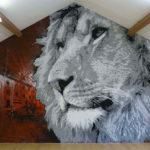 big reds lion