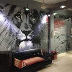 lions den mural