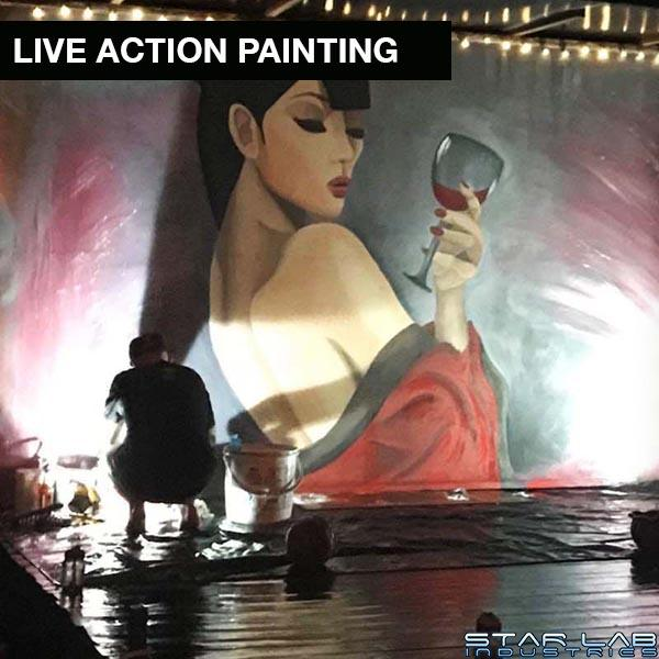 live action painting
