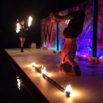 fire dance mural