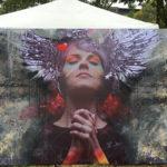 angel festival mural