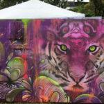W hotel tiger festival mural
