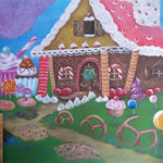 wonderland tea party mural