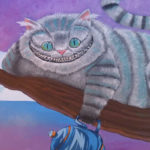 Cheshire cat wall mural