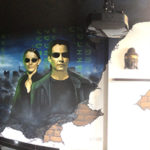 matrix room mural