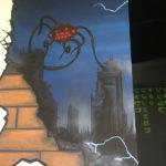 alien invasion mural