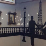paris moonlight mural