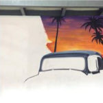 outline car wall mural