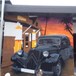 painting vintage car wall mural
