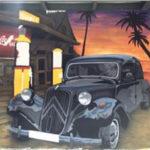 Vintage car wall mural