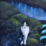 temple mural cat
