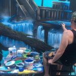 painting fantasy wall mural