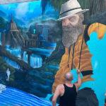 temple explorer mural